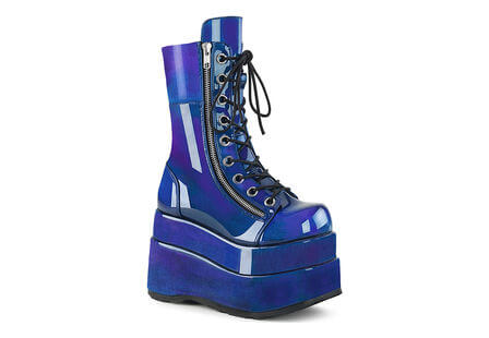 BEAR-265 Blue-Purple Platform Boots