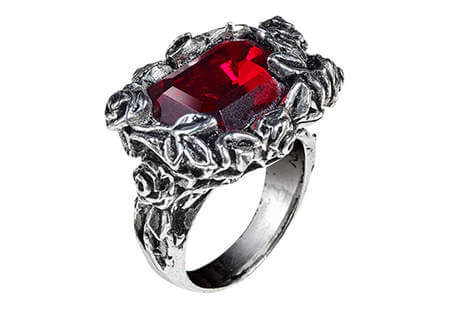 Blood Rose Gothic Ring