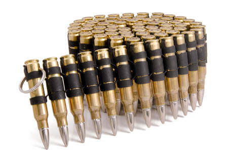 .223 Brass Black Silver Bullet Belt