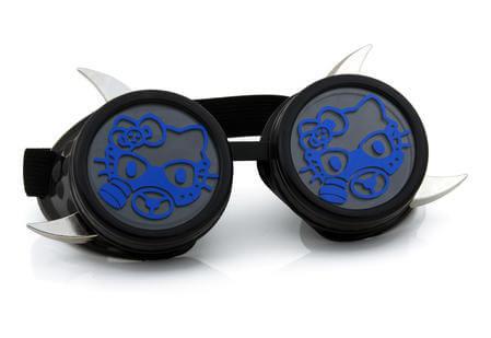 Dark blue cyber kitty goggles