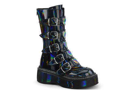 EMILY-330 Black Hologram Boots