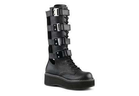 EMILY-359 Lace-up Strap boots