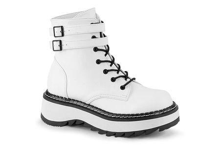 LILITH-152 White Platform Boots