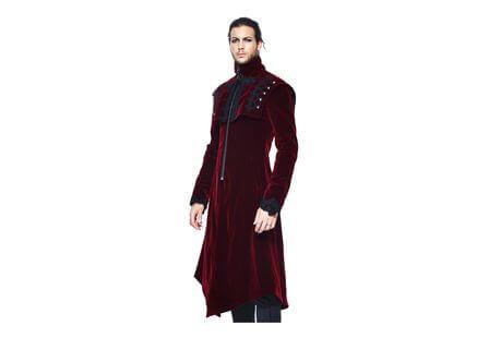 Morey Red Velvet Trench Coat
