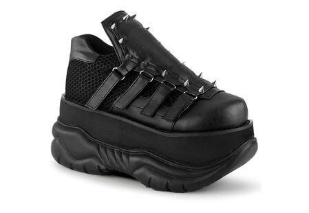 NEPTUNE-50 Black Platform Shoes