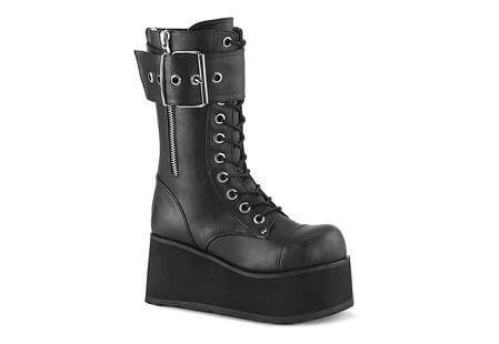 PETROL-150 Black Platform Boots