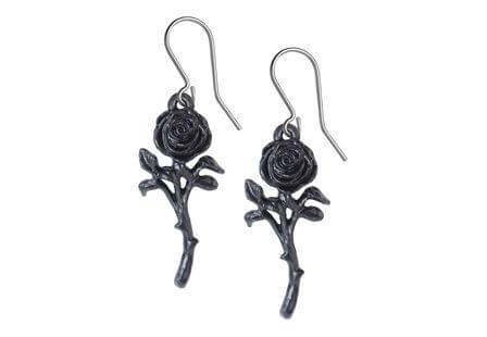 The Romance of the Black Rose Earrings