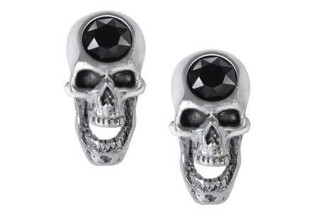 Screaming Skull Earring Studs