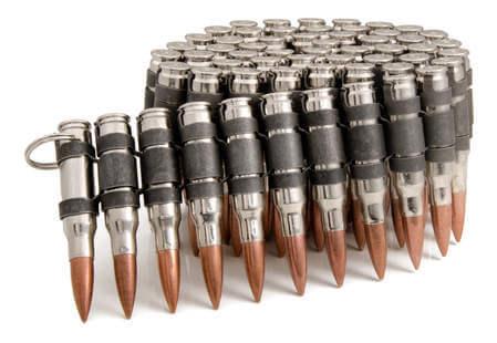 .308 Silver Black Copper Bullet Belt