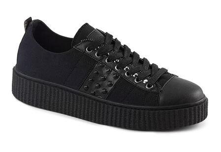 SNEEKER-107 Black Canvas Sneaker Creepers