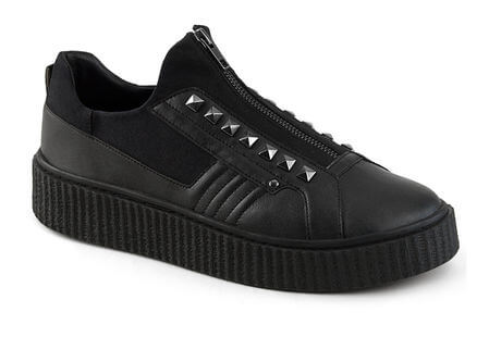 SNEEKER-125 zipper creeper sneaker
