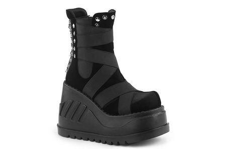 STOMP-25 Velvet Platform Boots