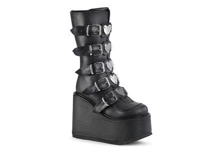 SWING-230 Hearts Platform Boots