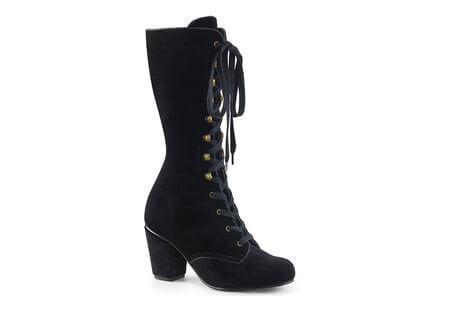 VIVIKA-205 Black Velvet Boots