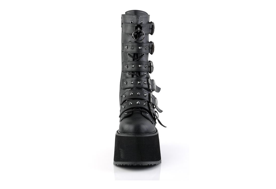 f2ae358f17c DAMNED-225 Black Vegan Leather Platform Boots