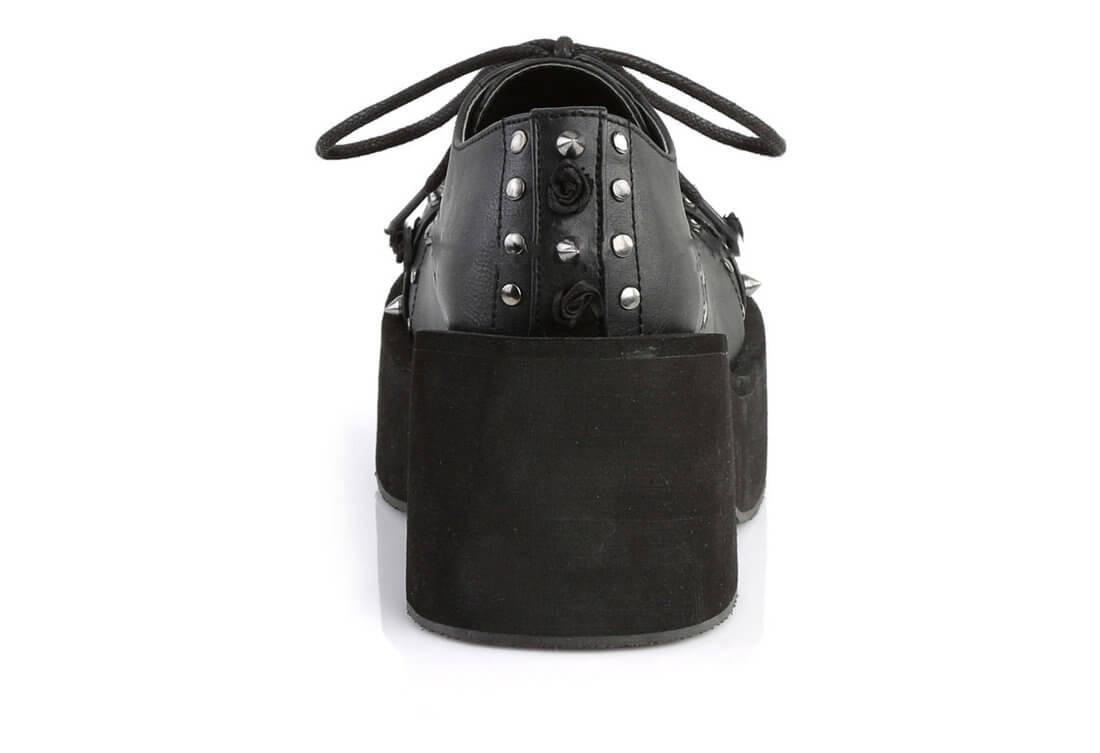 4599f6f449ea DANK-110 Black Vegan Leather Shoes alternate view