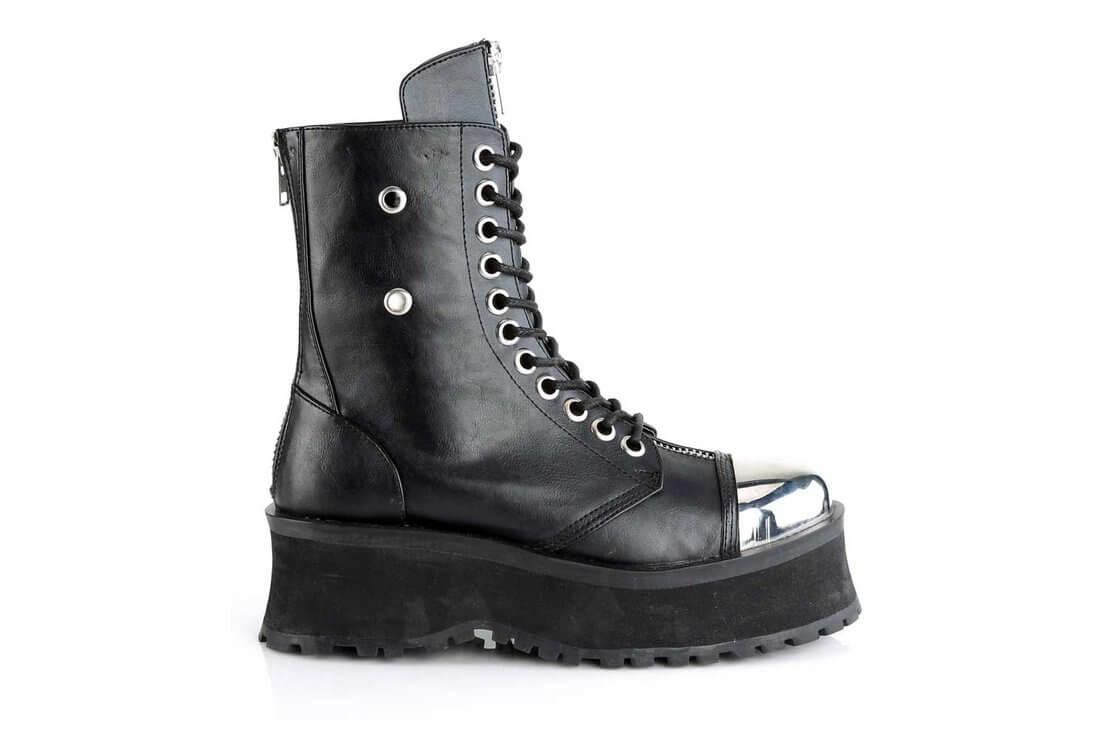 da8ae4bb1515b GRAVEDIGGER-10 Silver Toe Cap Boots