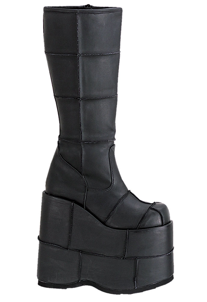 242ef48bfc0f Hover to zoom. Customers who bought this product also purchased. MONSTER-10  Black Platform Boots