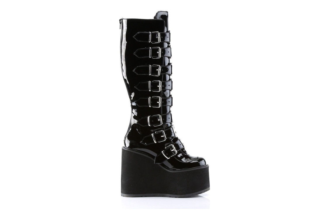 f2e0d897967 SWING-815 Black Patent Boots alternate view