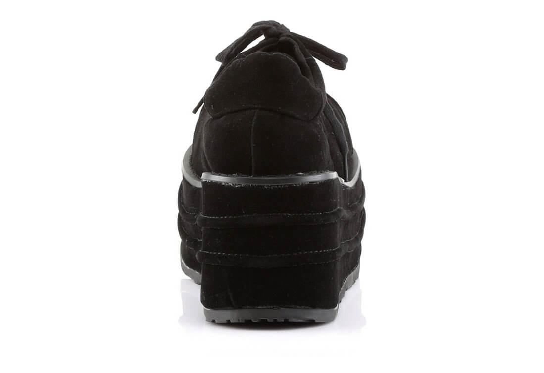 5c9706849ad TEMPO-08 Black Veggie Shoes alternate view