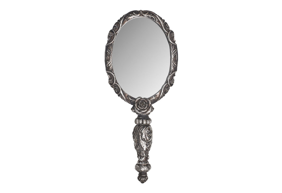 hand mirror. Brilliant Hand Baroque Rose Hand Mirror View 1 To A