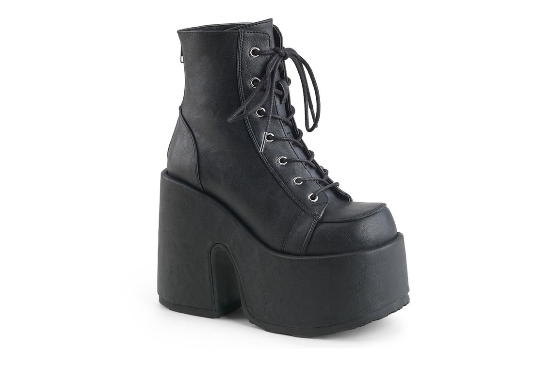 stable quality best cheap best quality CAMEL-203 Black Vegan Leather Platform Boots