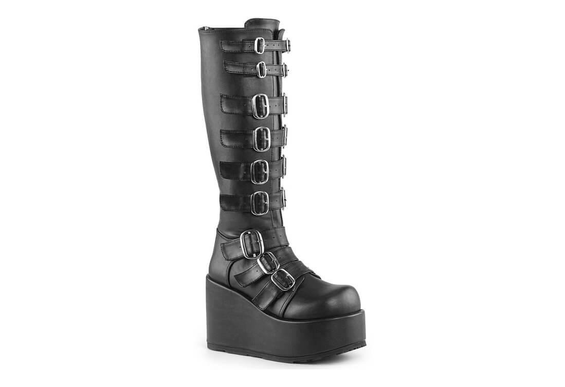 CONCORD-108 Buckle Platform Boots