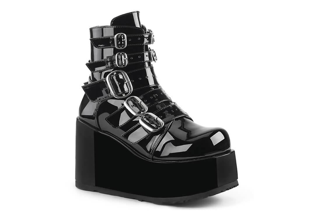 c42d439825a CONCORD-57 - Women s Black Patent Platform Ankle Boots