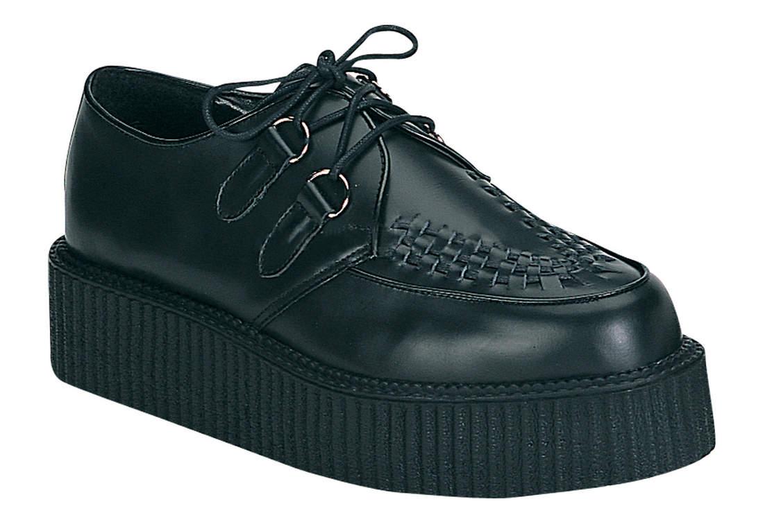 CREEPER-402 Black Leather Creepers