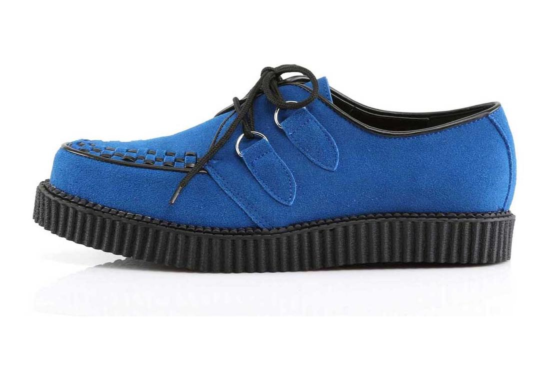 2ce5491abe3 CREEPER-602S Blue Suede Creepers alternate view
