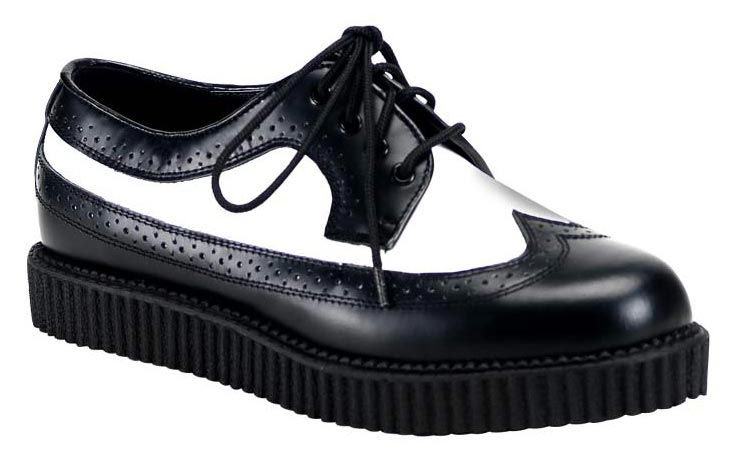 c8457351d0 CREEPER-608 Demonia Black and White Creepers