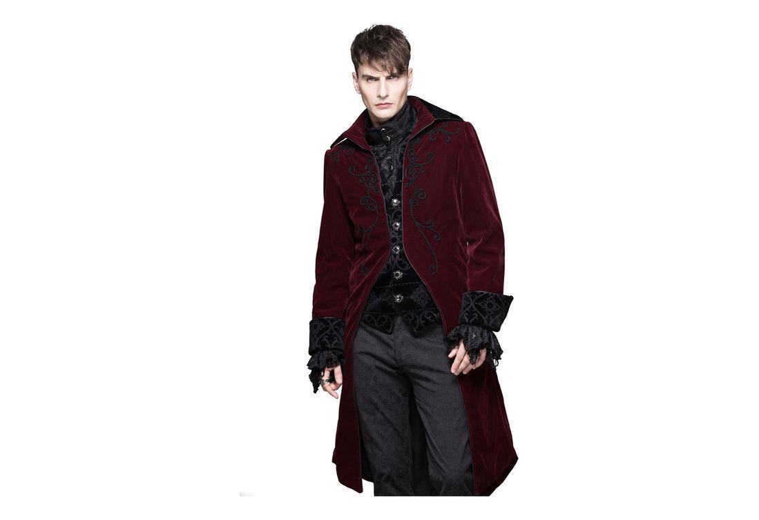 8b60263f0 Devil Fashion Mens Red Velvet Tailcoat alternate view
