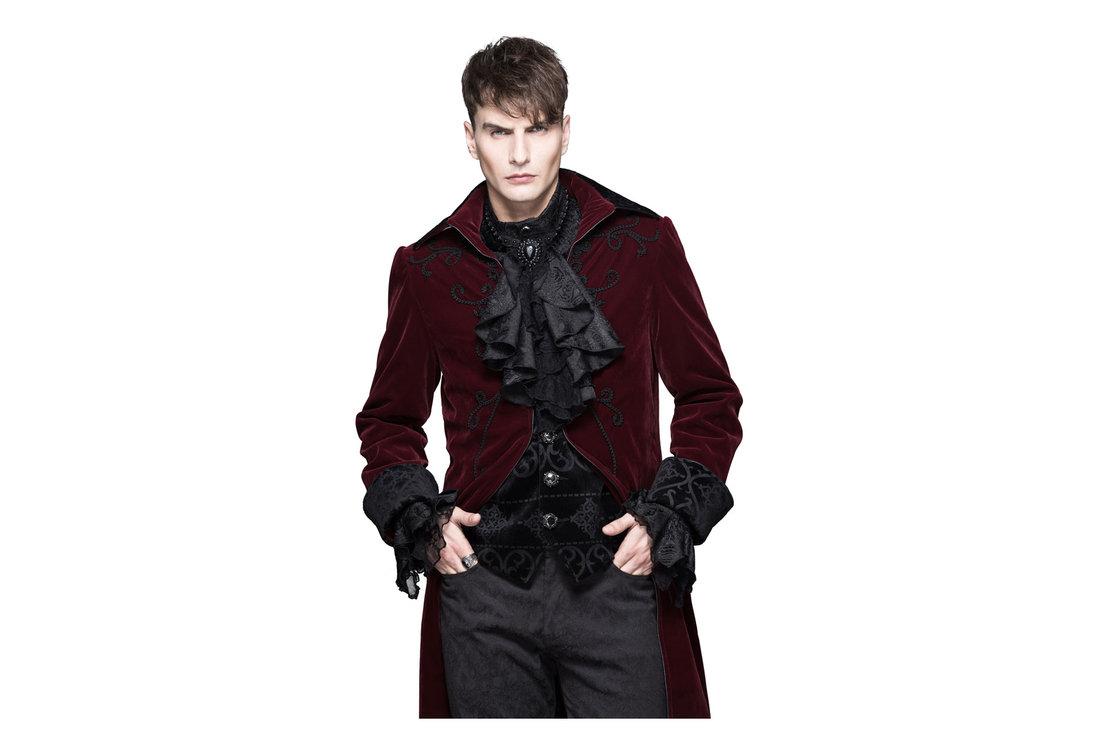 a11fb9e33 Devil Fashion Mens Red Velvet Tailcoat view 1