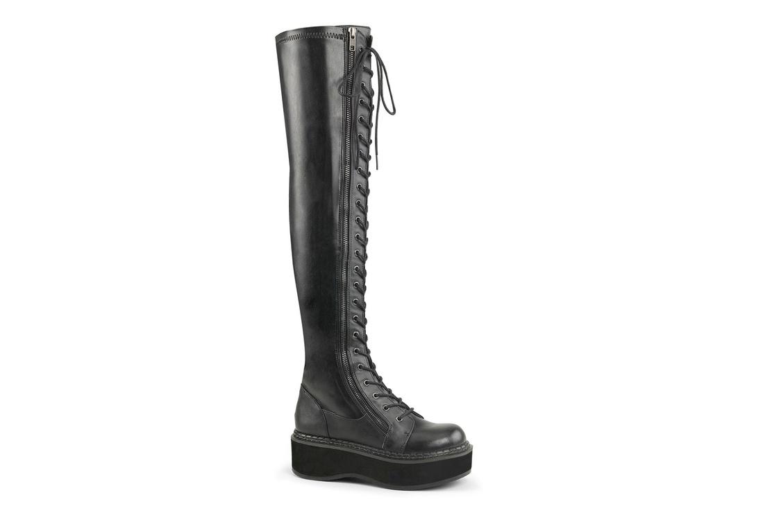 Gothic Black Platform Boots