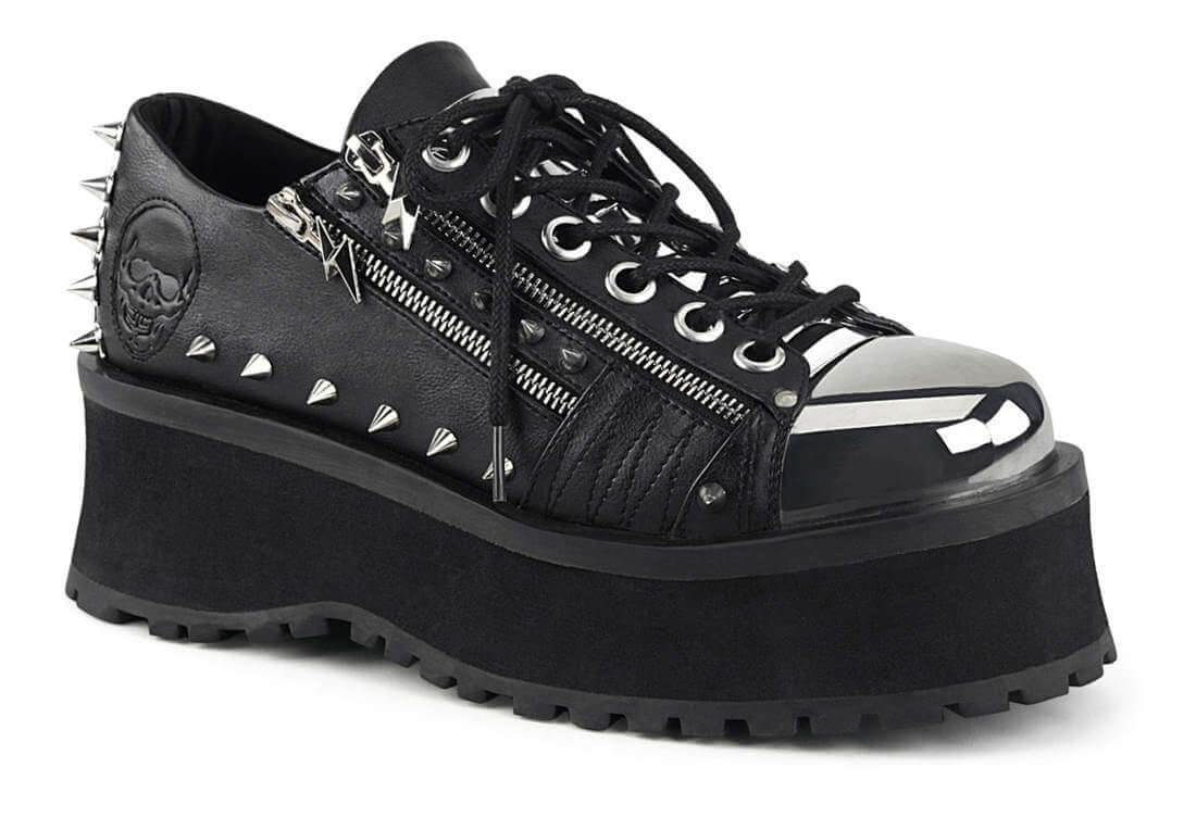 GRAVEDIGGER-04 Chrome Plated Platform Shoes
