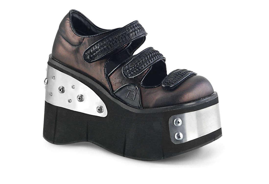 2b1c2ac9b041 KERA-13 Pewter   Metal Plates Platform Shoes