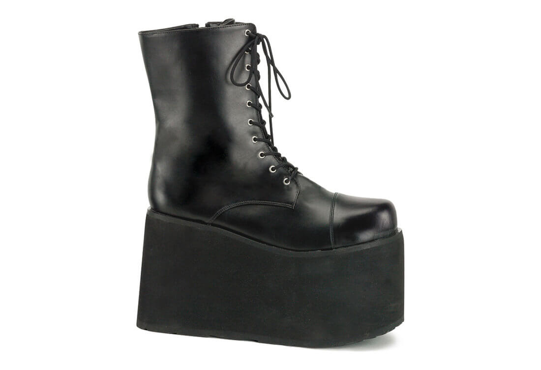 8d3ed75d6a98 MONSTER-10 Black Platform Boots. Hover to zoom