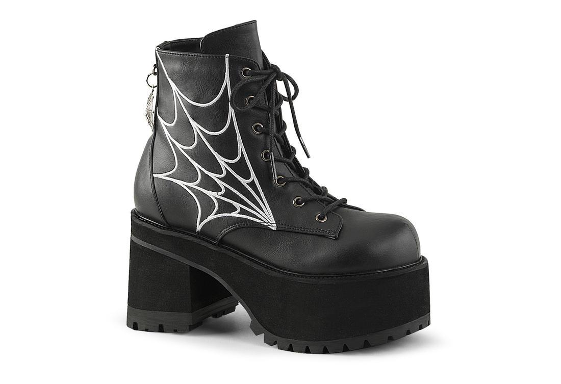 ranger 105 spider web gothic platform boots