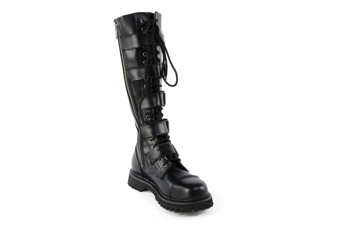 ed052407211 RIOT-20 Black Leather Boots alternate view