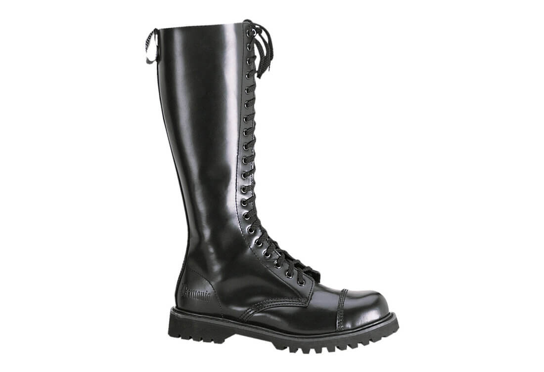 1e7511e253a ... Tall Black Leather Boots. Hover to zoom