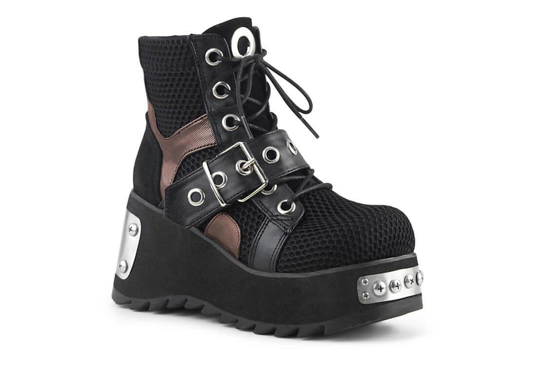 best to buy online here SCENE-53 - vegan leather - fishnet platform boots
