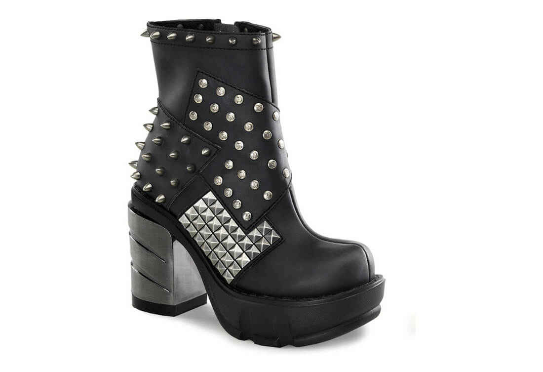 0145cbe0615 SINISTER-64 Chromed Patch Boots