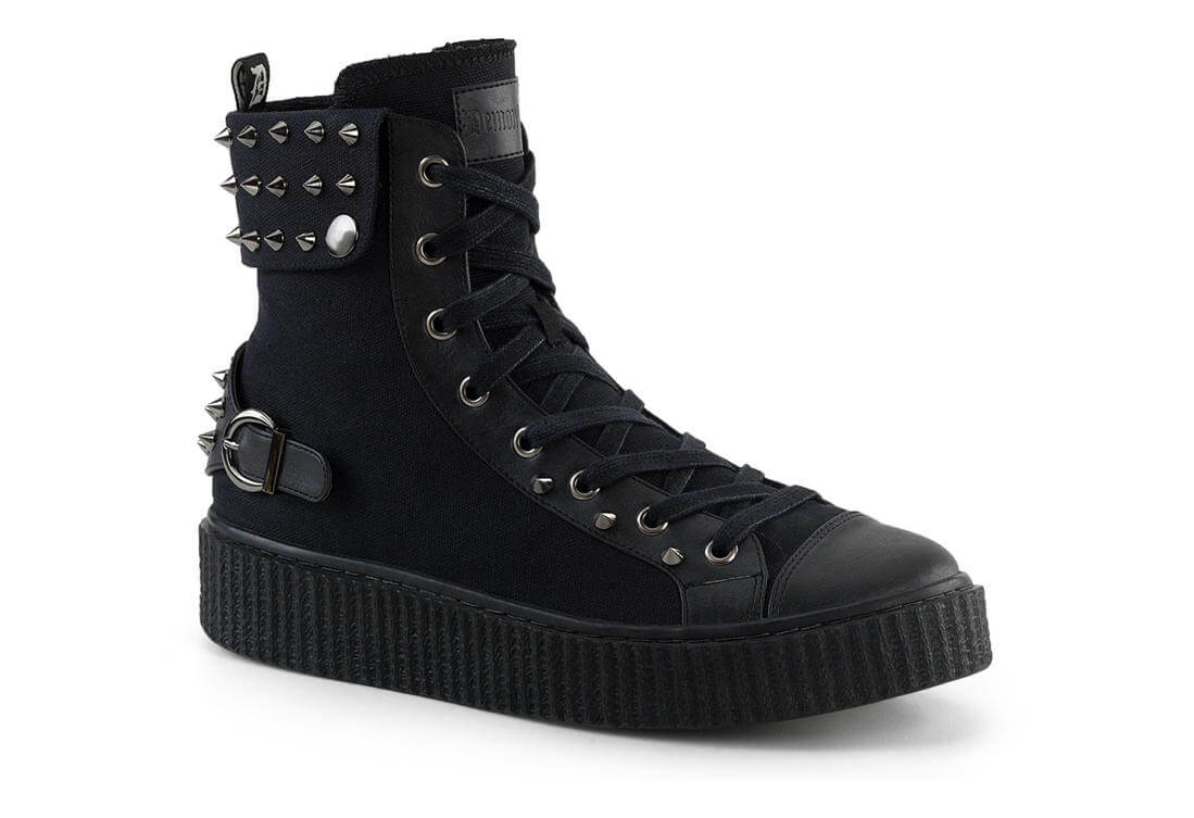 Boots Black Sneeker Spiked Canvas 266 Sneaker pqSMjLUVGz