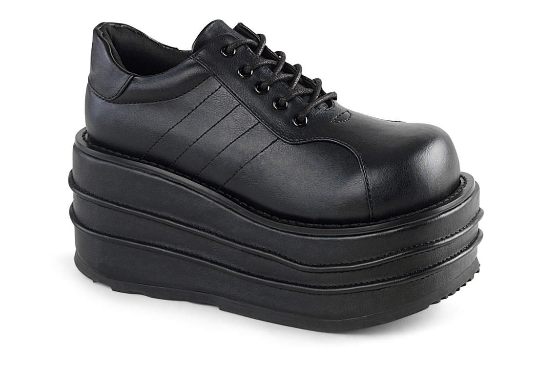 d02121e5d86 ... alternate view. TEMPO-08 Vegan Leather Platform Shoes. Hover to zoom