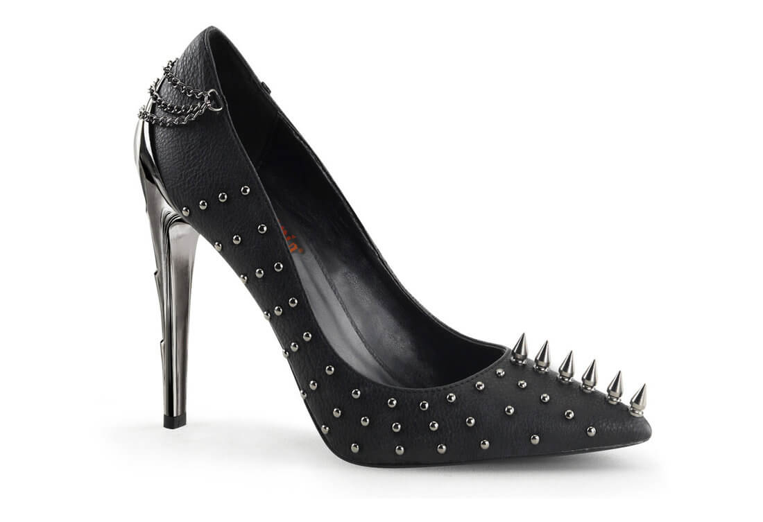 VOLTAGE-08 Spike Studded Heels 8a776fdb9392